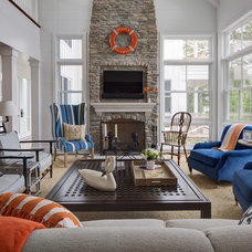 Beach Style Living Room by Colby Construction