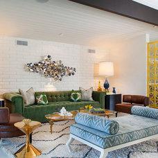 Midcentury Living Room by Joel Dessaules Design