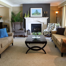 Traditional Living Room by Claire Jefford at Creating Contrast Designs