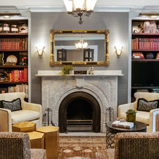 Transitional Living Room by Sean Litchfield Photography