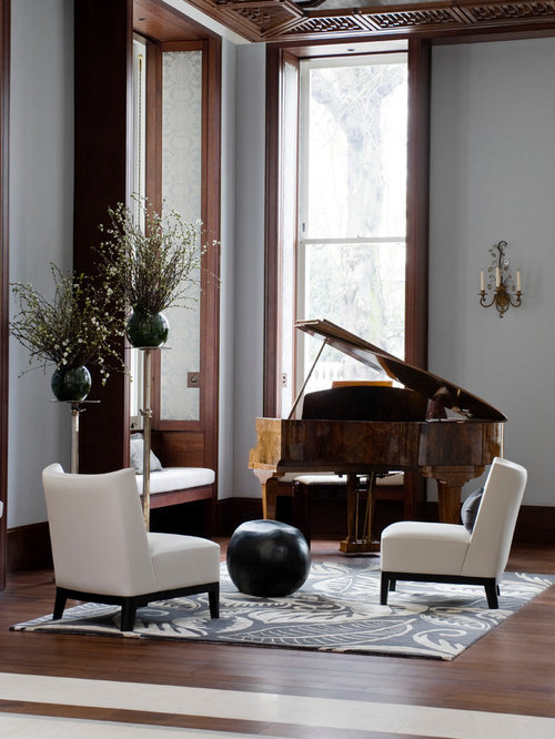 Baby grand piano houzz for Baby grand piano in living room