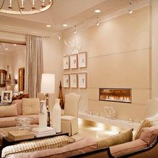 Contemporary Living Room by Karen Giffel Interior Design, LLC