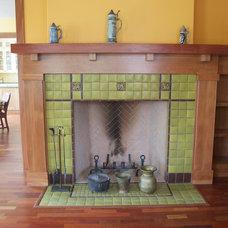 Craftsman Living Room by Kari Architect