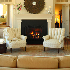 Transitional Living Room by Penelope Daborn Ltd.