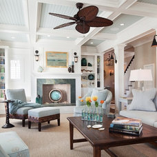 Beach Style Living Room by Richard Bubnowski Design LLC