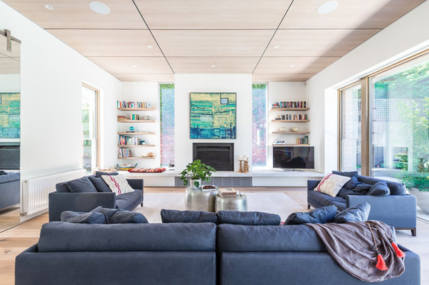 Contemporary Living Room by Roland J Dempster Photography