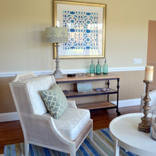 Beach Style Living Room by Shannon Willey