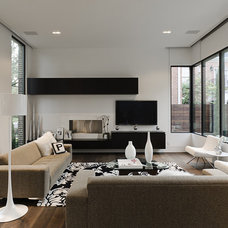 Modern Living Room by C O N T E N T Architecture