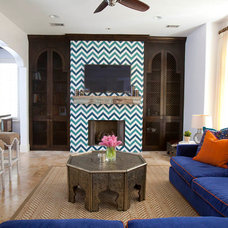 Eclectic Living Room by Laura U, Inc.