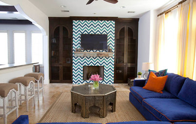 Blue Houzz Tour Morocco Meets Texas In A Family Townhouse