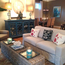 Beach Style Living Room by Gina McMurtrey Interiors