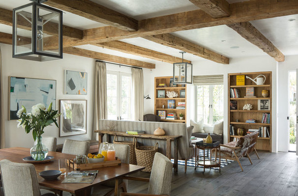 Transitional Living Room by Michael Kelley Photography