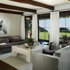Southern California Homes Contemporary Dining Room