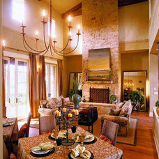 Traditional Living Room by Cornerstone Architects