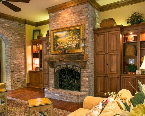 Old Brick Fireplace | Houzz