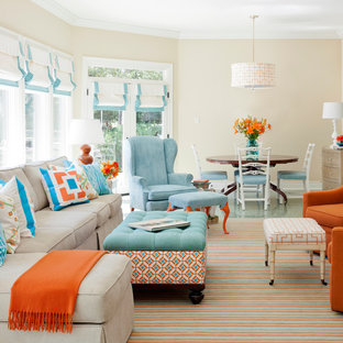 Inspiration For A Mid Sized Transitional Open Concept Living Room Remodel In Little Rock With