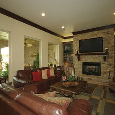 Traditional Living Room by Huffman Construction