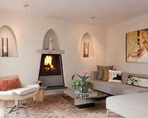 Spanish fireplace houzz for Spanish style fireplace