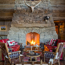 Rustic Family Room by Pearson Design Group