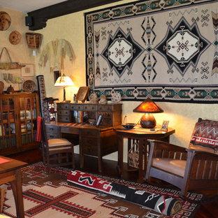 Living Room Southwestern Idea In Phoenix Save Photo Native American Decor