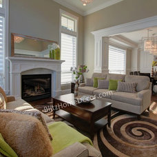 Craftsman Living Room by Blitz Staging and Decor