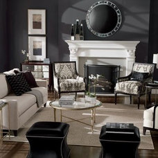 Contemporary Living Room by Kimberly Sandzik for Ethan Allen Interiors
