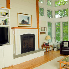 Traditional Living Room by Long Cove Builders