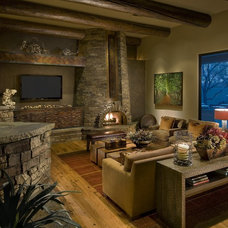 Rustic Living Room by Identity Construction