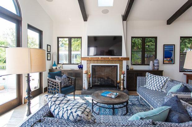 Mediterranean Living Room by Christine Kimberlee Designs