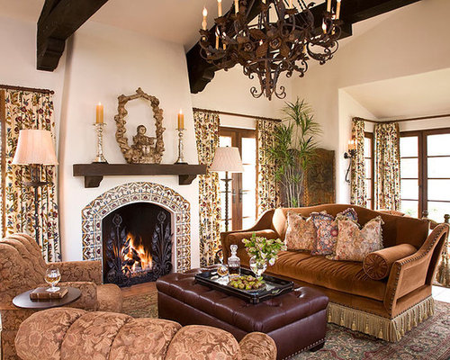 tuscan living room photo in orange county - Spanish Home Interior Design