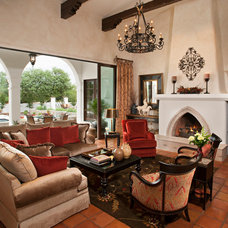 Mediterranean Living Room by Matthew Thomas Architecture, LLC