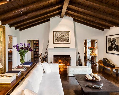 Mediterrane Wohnzimmer mediterrane wohnzimmer mit verputztem kaminsims ideen design houzz