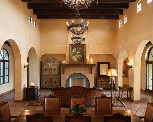 Spanish lighting houzz for Mediterranean fireplace designs
