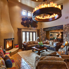 Mediterranean Family Room by Professional Design Consultants