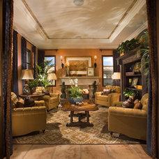 Mediterranean Living Room by David-Michael Design,Inc.