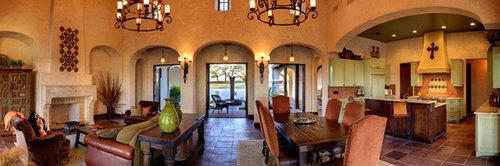 Hacienda style house plans