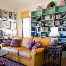 Southwestern Living Room by Kari Architect