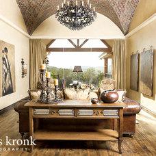 Mediterranean Living Room by Cherie Myrick Interiors