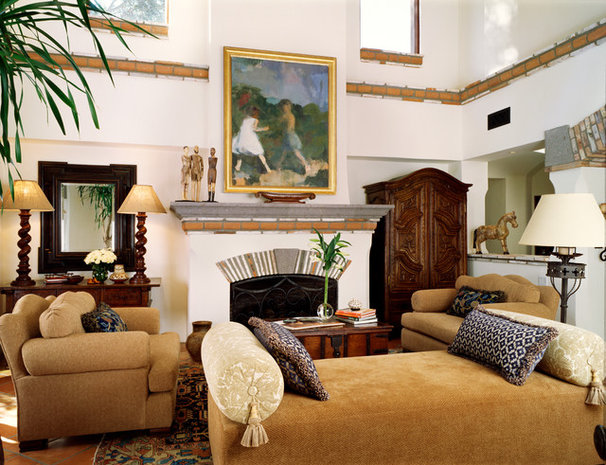 Mediterranean Living Room by Wendy Black Rodgers Interiors