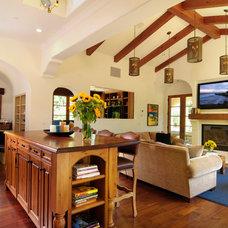 Mediterranean Living Room by Zicovich Builders, Inc.