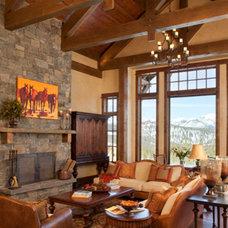 Rustic Living Room by Elizabeth Robb Interiors