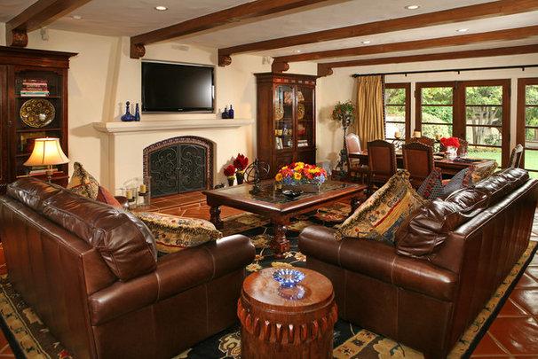 Mediterranean Living Room by Cynthia Bennett & Associates
