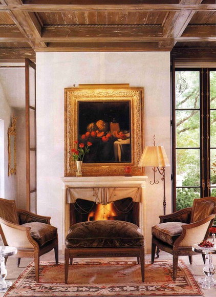 Mediterranean Living Room by Christopher James Interiors