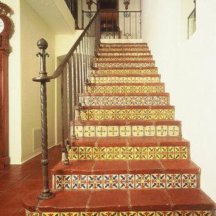 Spanish stair case railing.