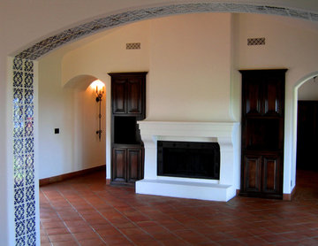 Spanish style Living Room in Santa Barbara CA