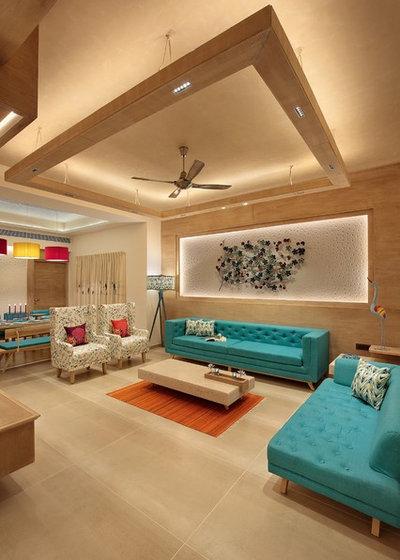 Contemporary Living Room by Ace Associates