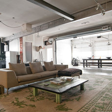 Industrial Living Room by Lucy Call