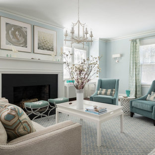 Tan And Blue Living Room Ideas Photos Houzz
