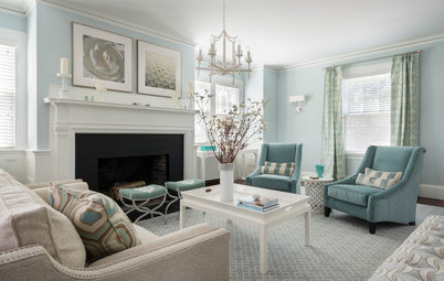 Room of the Day: Wrapped in Blues and Silvery Hues