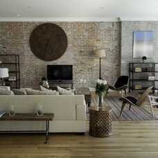 Industrial Living Room by Marie Burgos Design